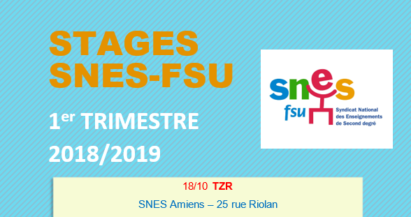 Stages SNES-FSU - 2018 / 2019